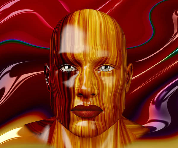 Digital Art - Man In Wood by Carlos Diaz