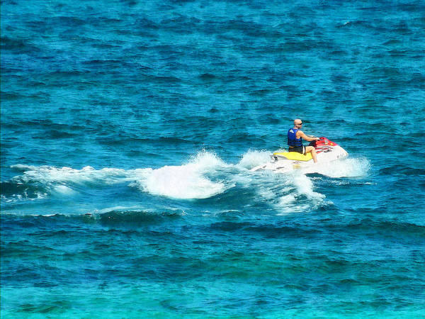 Photograph - Man Jet Skiing by Susan Savad