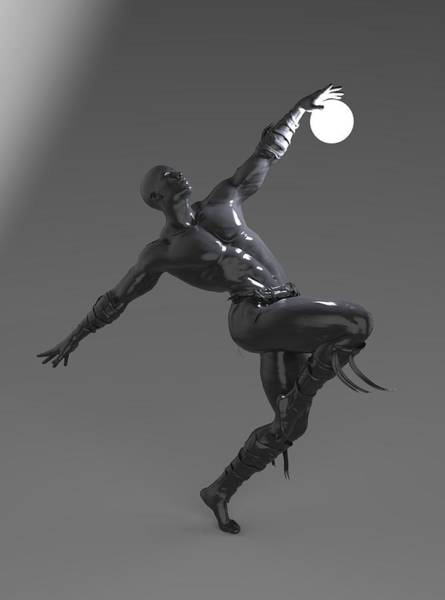 Imagery Digital Art - Man Lamp Number Four by Joaquin Abella