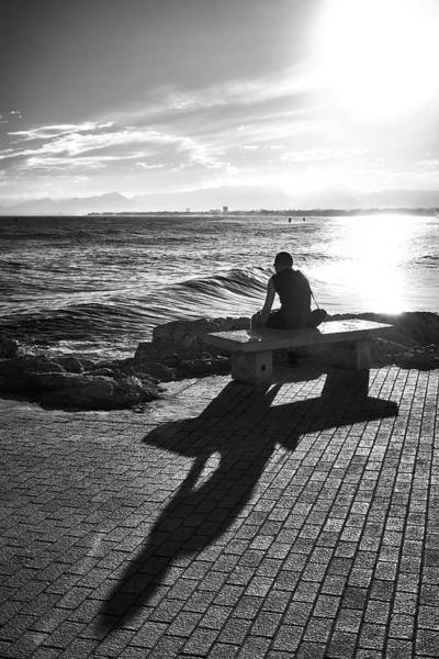 Photograph - Man Looking At The Sea In Spain by Fine Art Photography Prints By Eduardo Accorinti