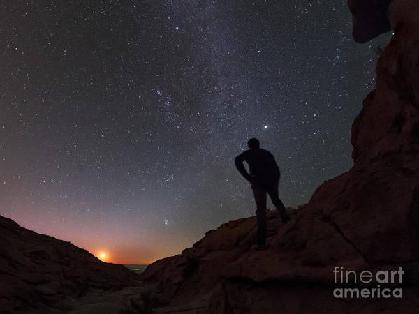 Wall Art - Photograph - Man Looks At Starry Sky, Atacama Desert by Babak Tafreshi
