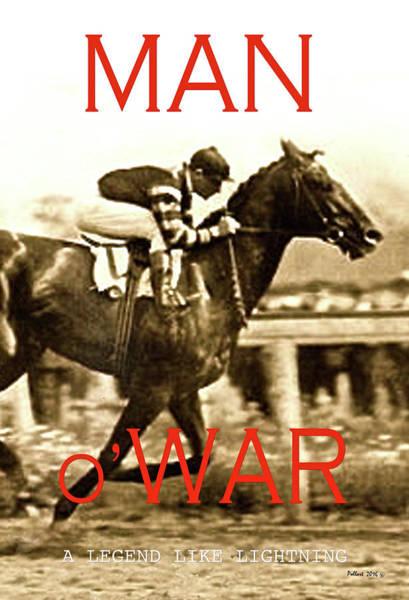 St Louis Cardinals Mixed Media - Man O War, A Legend Like Lightning by Thomas Pollart