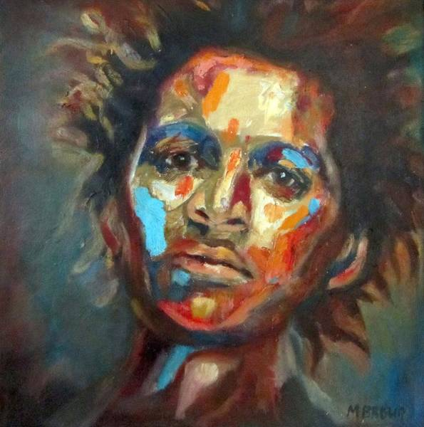 Daring Painting - Man Of Color by Monica Brown