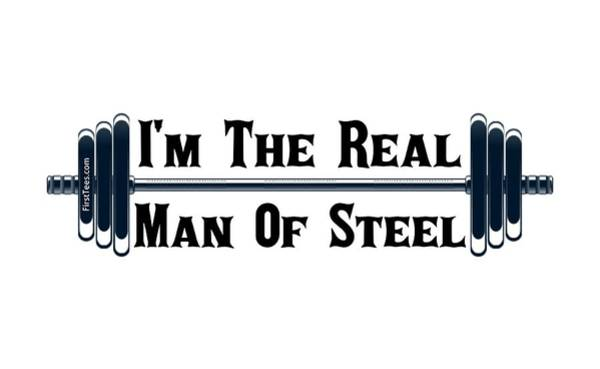 Powerlifting Digital Art - Man Of Steel by Firsttees Motivational Artwork