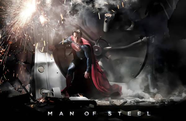 Digital Art - Man Of Steel by Maye Loeser