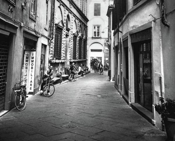 Photograph - Man On A Bike Rome, Italy by Coleman Mattingly