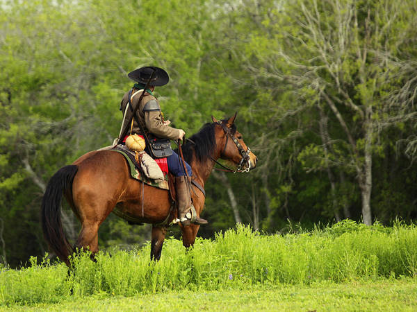 Photograph - Man On Horseback by Charles McKelroy