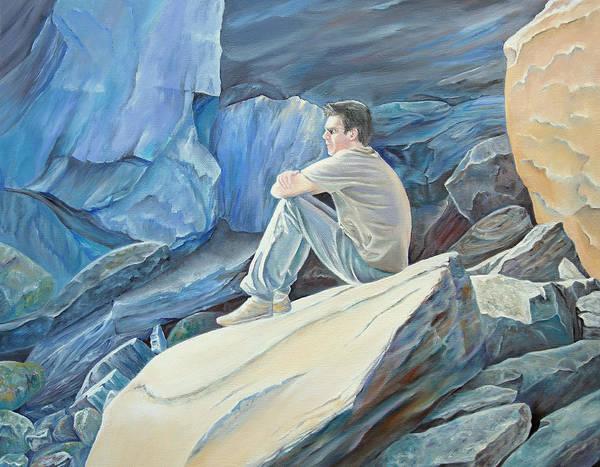 Painting - Man On The Rocks by Elizabeth Lock