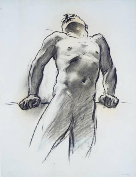 20th Century Man Drawing - Man Standing, Head Thrown Back by John Singer Sargent
