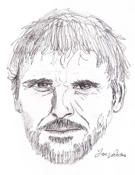 Drawing - Man Staring by M Valeriano