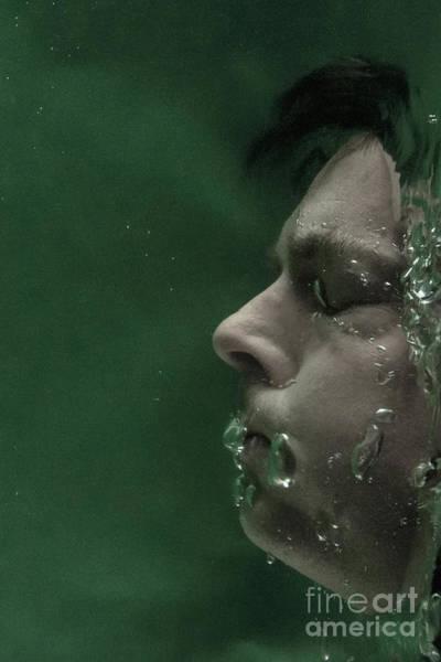 Photograph - Man Underwater One by Clayton Bastiani