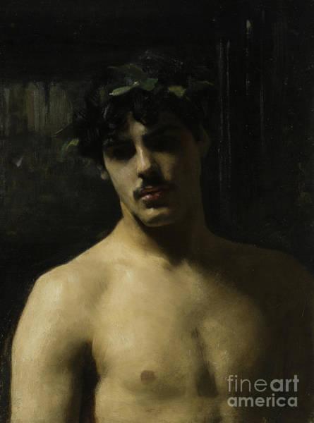 Homo Painting - Man Wearing Laurels by John Singer Sargent