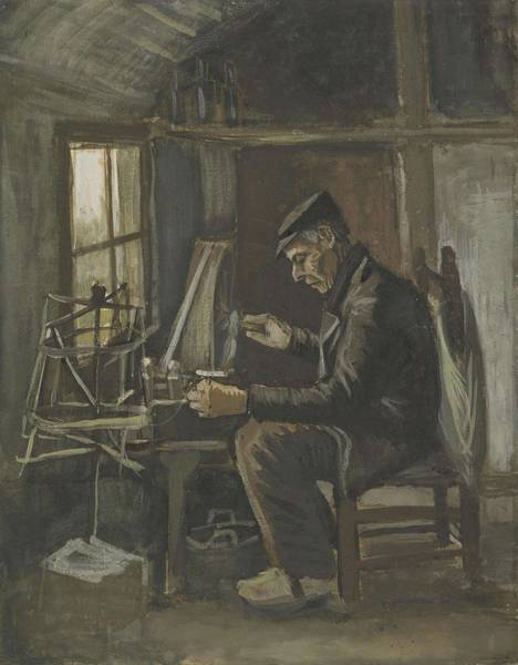 Painting - Man Winding Yarn Nuenen, May - June 1884 Vincent Van Gogh 1853  1890 by Artistic Panda