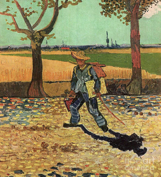 Painting - Man With Backpack, 1888 by Vincent Van Gogh