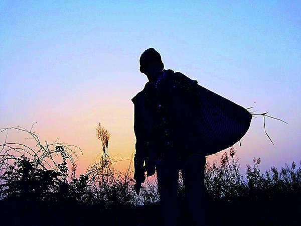 Photograph - Man With Bag by Atullya N Srivastava
