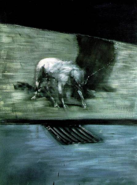 Wall Art - Painting - Man With Dog  by Francis Bacon
