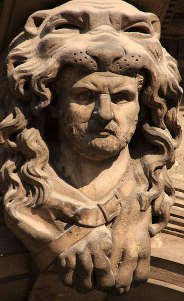 Wall Art - Photograph - Man With Lion On His Head by Michael Henderson