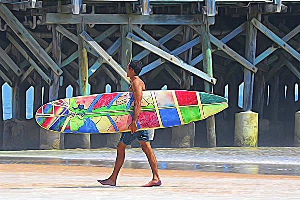 Photograph - Man With The Board by Alice Gipson