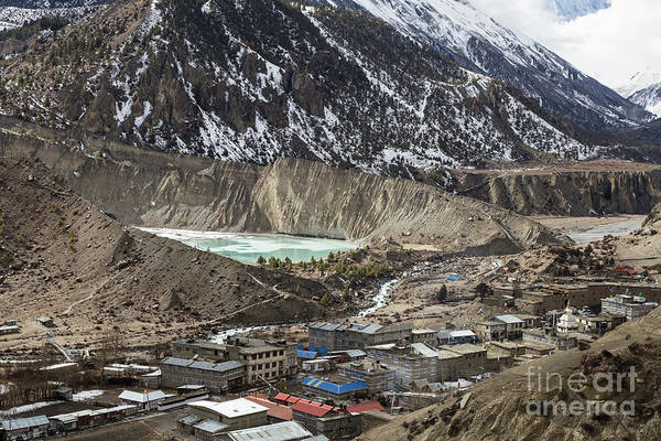Photograph - Manang And The Gangapurna Lake In Nepal by Didier Marti