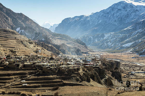 Photograph - Manang Old Town Along The Annapurna Circuit by Didier Marti