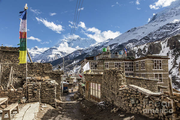 Photograph - Manang Old Town In The Himalayas In Nepal by Didier Marti