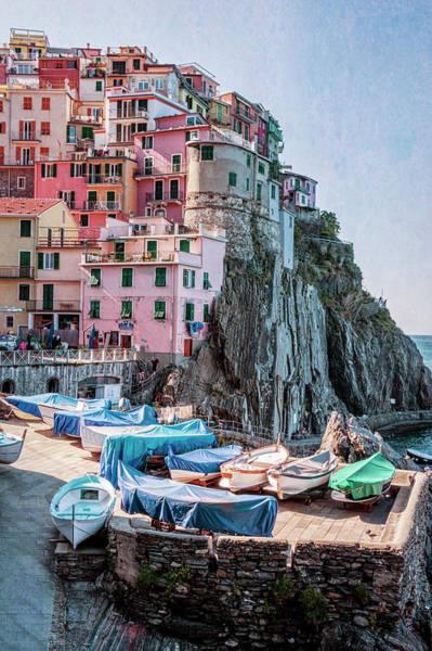 Photograph - Manarola Boats Cinque Terre Italy by Joan Carroll