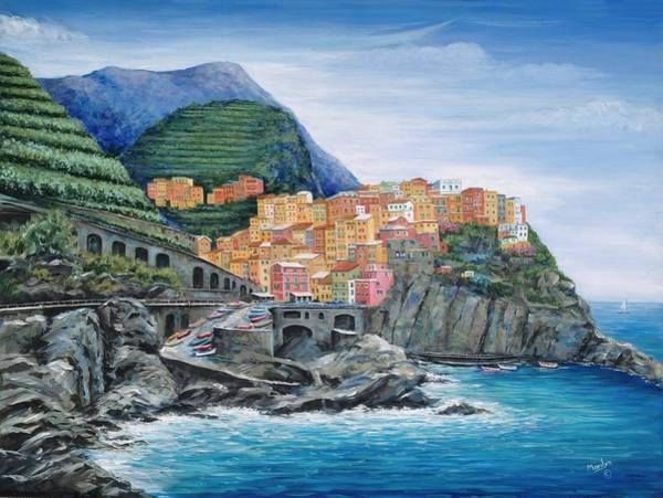 Wall Art - Painting - Manarola Cinque Terre Italy by Marilyn Dunlap