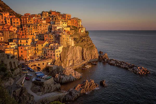 Photograph - Manarola Dusk Cinque Terre Italy by Joan Carroll