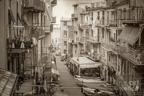Photograph - Manarola In Sepia by Prints of Italy