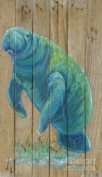 Recycle Painting - Manatee by Danielle Perry