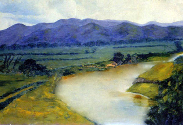 Overflow Painting - Manati River by Gladiola Sotomayor