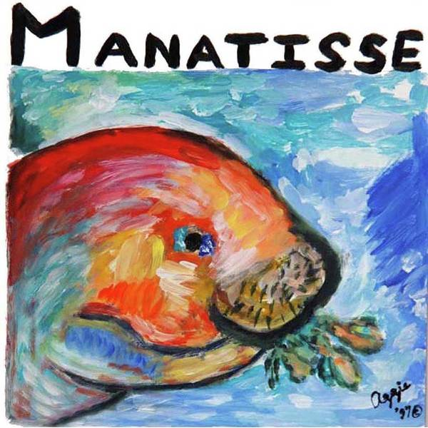 Painting - Manatisse by Stephanie Agliano