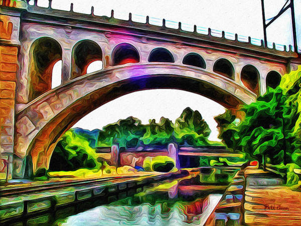 Photograph - Manayunk Canal And Bridge by Bill Cannon
