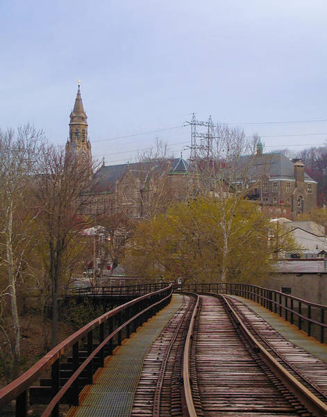 Wall Art - Photograph - Manayunk Philadelphia From The Tracks by Bill Cannon