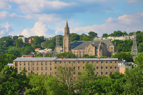 Photograph - Manayunk - St John The Baptist - Scofield Mill - Philadelphia by Bill Cannon