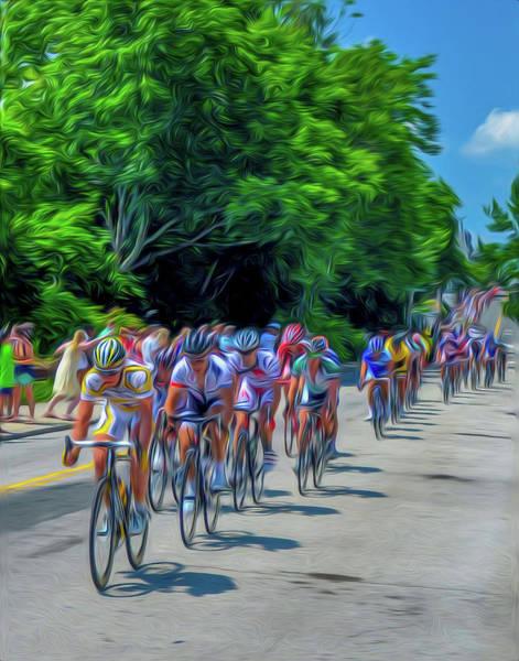 Photograph - Manayunk - The Bike Race - Philadelphia by Bill Cannon