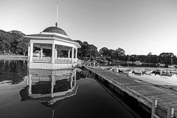 Photograph - Manchester By The Sea Ma Tucks Point At Sunrise Reflection Black And White by Toby McGuire