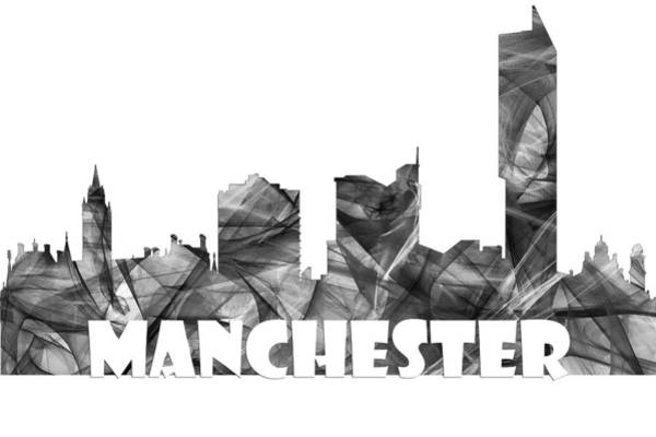 Manchester Digital Art - Manchester England Skyline by Marlene Watson