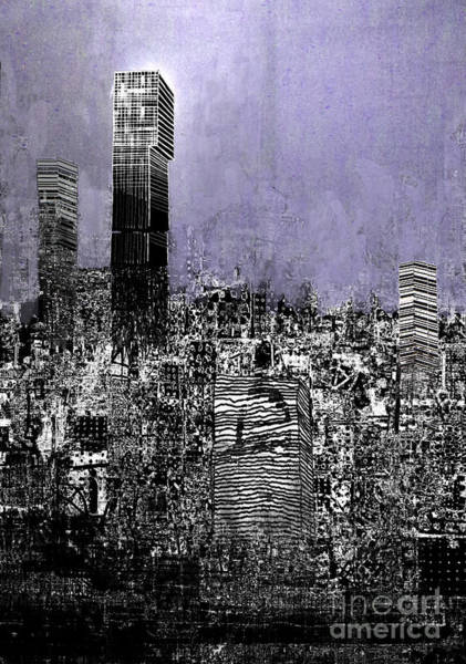 Manchester Digital Art - Manchester Exploding by Andy  Mercer