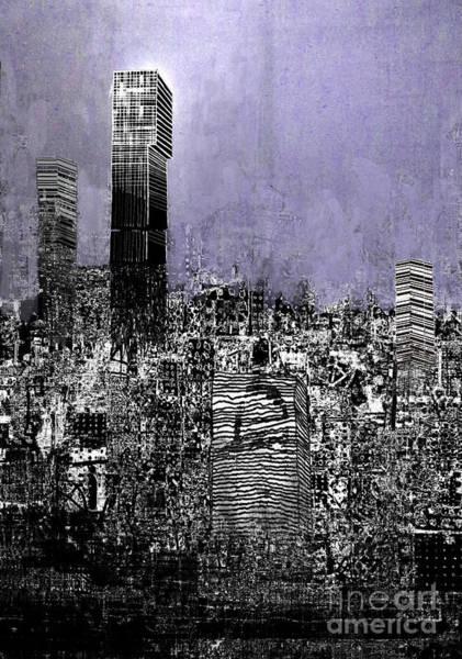 Manchester Skyline Wall Art - Digital Art - Manchester Exploding by Andy  Mercer