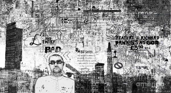 Manchester Digital Art - Manchester Graffito by Andy  Mercer