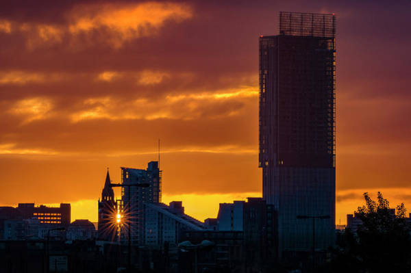 Photograph - Manchester Skyline At Dawn by Neil Alexander