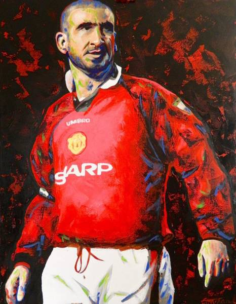 George Best Wall Art - Painting - Manchester United Eric Cantona Painting by Scott Strachan