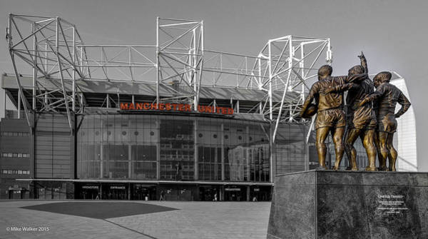 George Best Wall Art - Photograph - Manchester United Old Trafford 3 by Mike Walker