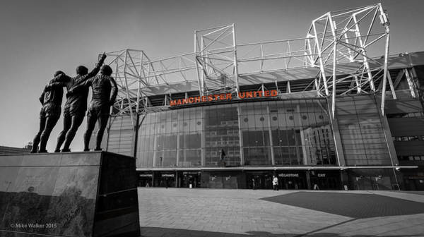 George Best Wall Art - Photograph - Manchester United Old Trafford 2 by Mike Walker