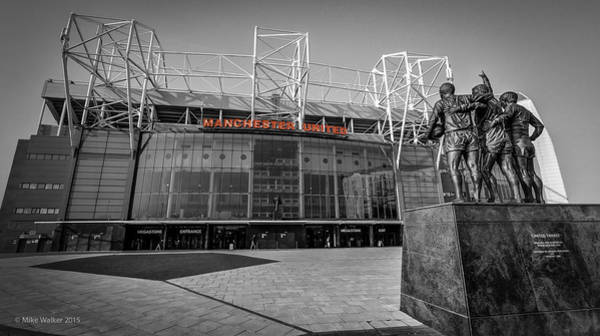 George Best Wall Art - Photograph - Manchester United Old Trafford by Mike Walker