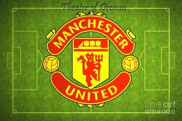 Samsung Galaxy S6 Wall Art - Digital Art - Manchester United Theater Of Dreams Large Canvas Art, Canvas Print, Large Art, Large Wall Decor by David Millenheft