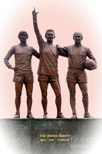 George Best Wall Art - Photograph - Manchester United Trinity by David Birchall