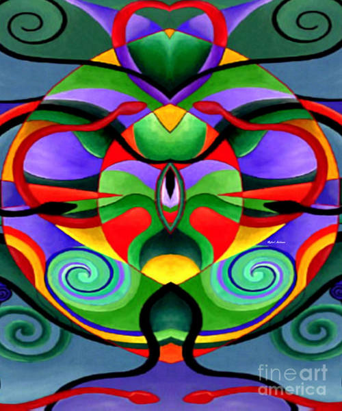 Digital Art - Mandala 9704 by Rafael Salazar
