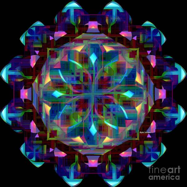 Digital Art - Mandala 9735 by Rafael Salazar
